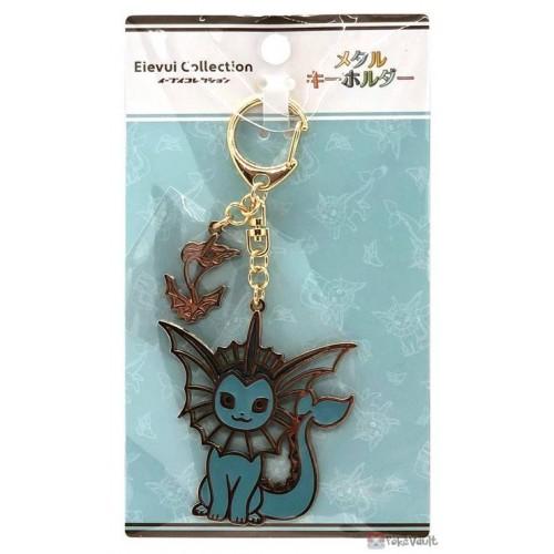 Pokemon Center 2021 Vaporeon Eevee Collection Metal Charm Keychain