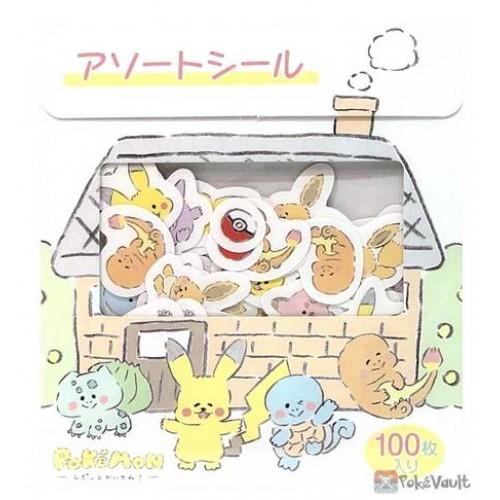 Pokemon Center 2021 Eevee Gengar Report Kaitene Set Of 100 Stickers