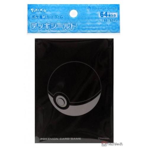 Pokemon Center 2021 Black Pokeball Set Of 64 Pro Deck Sleeves