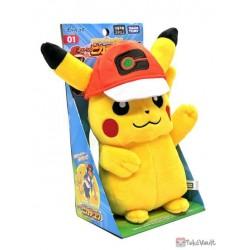 Pokemon 2021 Ash's Pikachu Takara Tomy Plush Toy