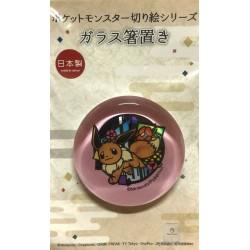 Pokemon Center 2018 Kirie Paper Cutout Campaign Eevee Glass Chopsticks Holder