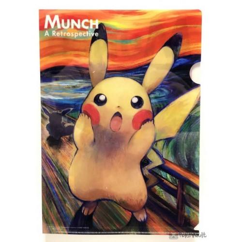 Pokemon 2018 Munch Scream Pikachu A4 Size Clear File Folder