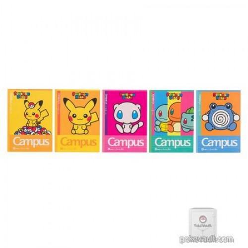 Pokemon Center 2018 Mew Pikachu Poliwag & Friends Set Of 5 Notebooks