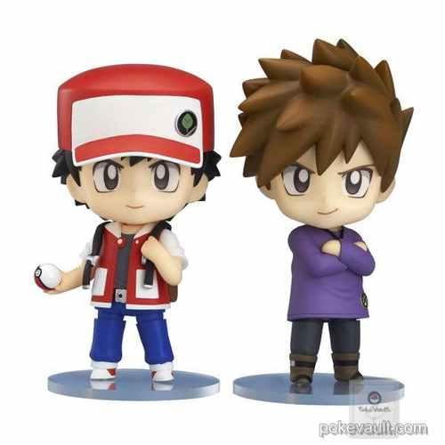 Pokemon Center 2016 Red Green Mew Set of 2 Nendoroid Figures