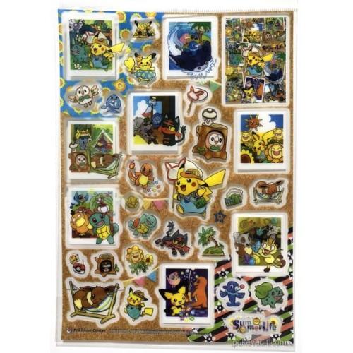 Pokemon Center 2018 Pokemon Summer Life Campaign Pikachu Rockruff Litten & Friends & Friends Large Sticker Sheet