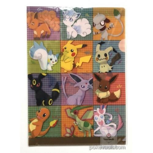 Pokemon Center 2017 Tails & Paws Mimikyu Vulpix Espeon Umbreon & Friends Campaign A4 Size Clear File Folder