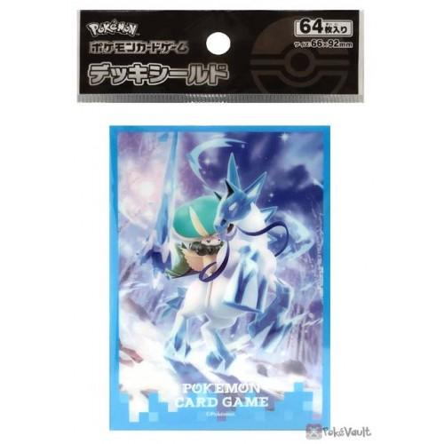 Pokemon Center 2021 Calyrex Glastrier Silver Lance Set Of 64 Deck Sleeves