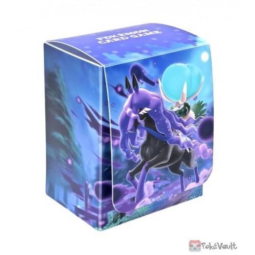 Pokemon Center 2021 Calyrex Spectrier Jet-Black Spirit Card Deck Box Holder