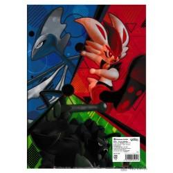 Pokemon Center 2021 Cinderace Inteleon Rillaboom File Folder