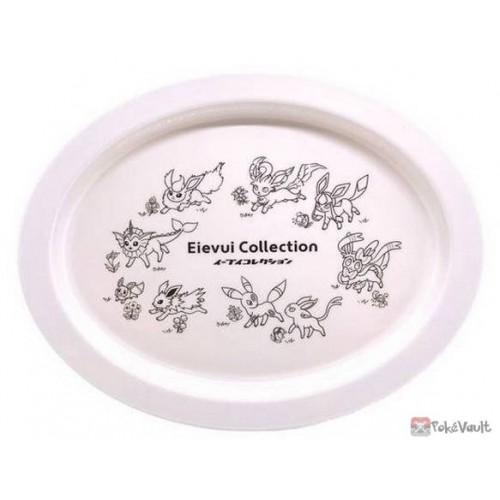 Pokemon Center 2021 Eevee Collection Melamin Plastic Plate (White)