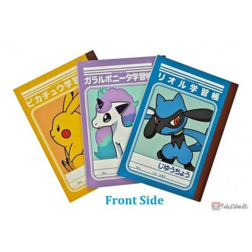 Pokemon 2021 Pikachu Riolu Galarian Ponyta Set Of 3 Mini Notebooks Ver. H