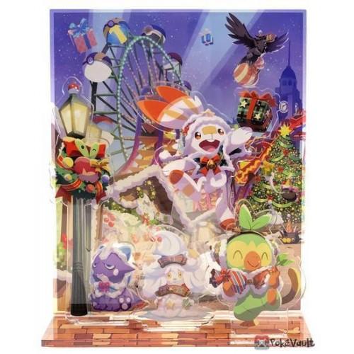 Pokemon Center 2020 Alcremie Christmas Wonderland Acrylic Plastic Stand #2