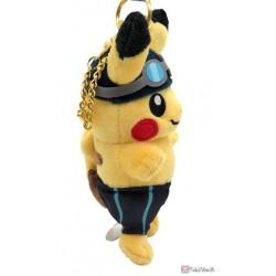 Pokemon Center 2020 Pikachu Swimming Pokemon Sports Plush Keychain