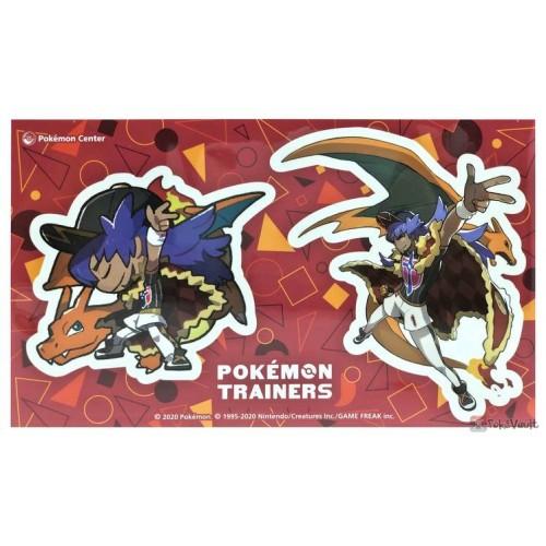 Pokemon Center 2020 Trainer Leon Charizard Pokemon Trainers #2 Set Of 2 Stickers