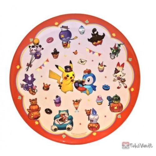 Pokemon Center 2021 Halloween Pumpkin Banquet Plastic Plate