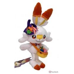Pokemon Center 2021 Scorbunny Halloween Pumpkin Banquet Plush Toy