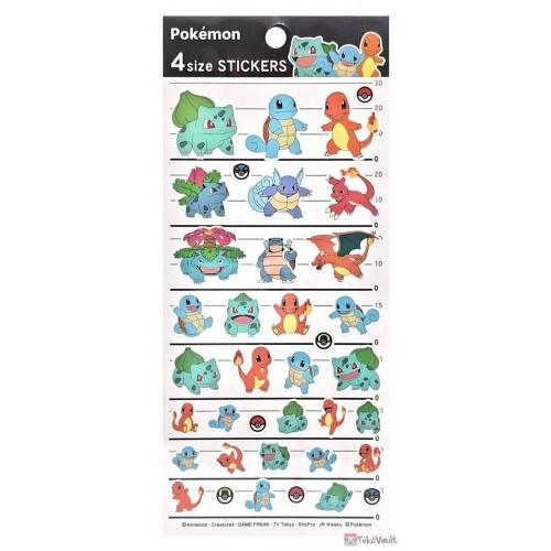 Pokemon Center 2021 Bulbasaur Charizard Venusaur Kanto 4 Size Sticker Sheet