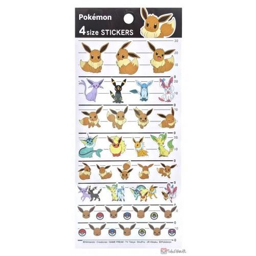 Pokemon Center 2021 Vaporeon Umbreon Sylveon 4 Size Sticker Sheet