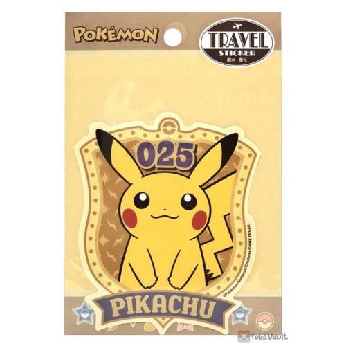 Pokemon 2021 Pikachu Large Retro Travel Sticker (Version A)
