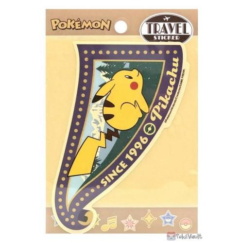 Pokemon 2021 Pikachu Large Retro Travel Sticker (Version B)