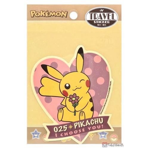 Pokemon 2021 Pikachu Large Retro Travel Sticker (Version C)