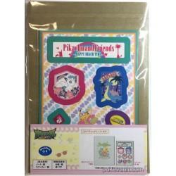 Pokemon Center 2017 Pikachu & Friends Happy Beach Time Pikachu Slowpoke Notebook & Sticker Lottery Prize NOT SOLD IN STORES