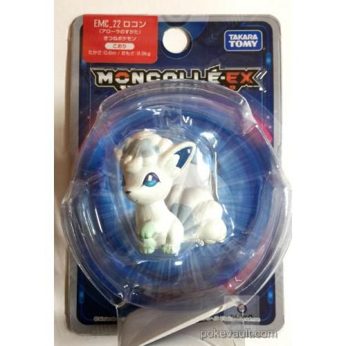 "Pokemon 2017 Alolan Vulpix Tomy 2"" Monster Collection Moncolle EX Plastic Figure EMC-22"