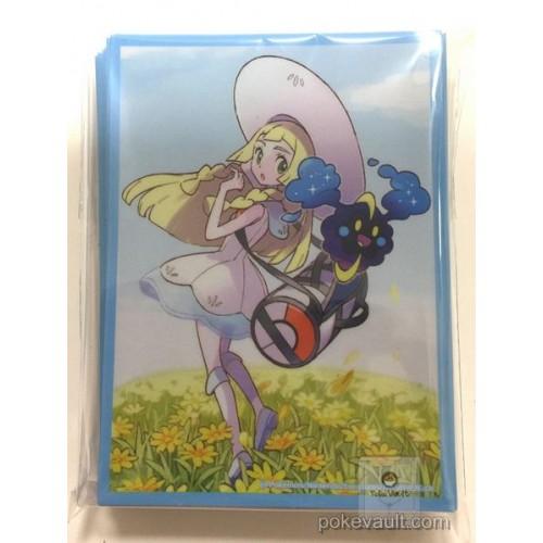 Pokemon Center 2017 Lillie & Gladion Campaign Card Box Set Lillie Cosmog Set Of 64 Deck Sleeves