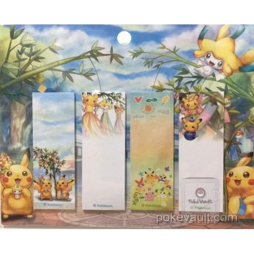 Pokemon Center Tohoku 2017 Renewal Opening Pikachu Jirachi Victini Snivy & Friends Post It Notes