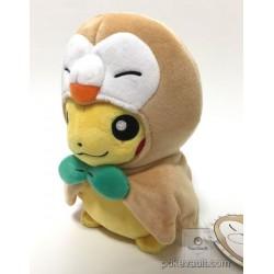 Pokemon Center Tohoku 2017 Renewal Opening Poncho Pikachu Rowlet Plush Toy