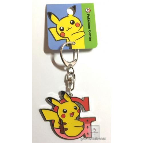 Pokemon Center 2017 Pikachu Keychain (Version G)