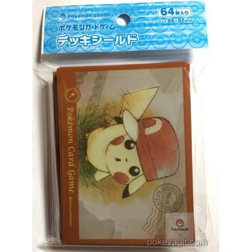 Pokemon Center 2017 Pikachu Album Collection Campaign Ash Hat Pikachu Set Of 64 Deck Sleeves (Version #5)