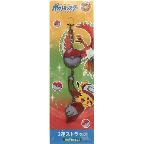 Pokemon Center 2017 Ash Hat Pokeball Movie Version Mobile Phone Strap
