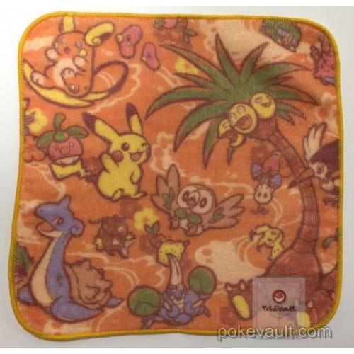 Pokemon Center 2017 Alola Festival Campaign Lapras Alolan Exeggutor Raichu & Friends Mini Hand Towel (Version #1)