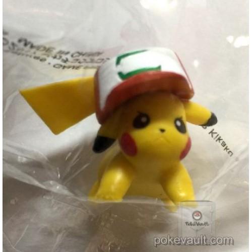 Pokemon Center 2017 Chupa Surprise Movie Version Series Pokeball Ash Hat Pikachu Figure & Candy (Version #1 Lying)