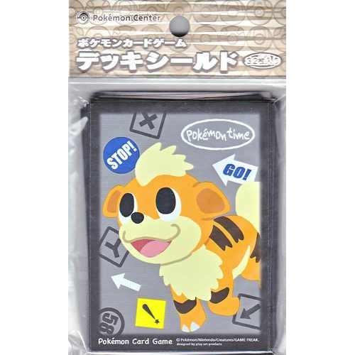 Pokemon Center 2012 Pokemon Time Campaign #4 Growlithe Set Of 32 Deck Sleeves