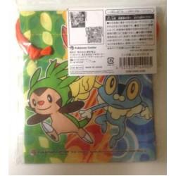 Pokemon Center 2013 Fennekin Froakie Chespin Pancham Helioptile Fletchling Small Size Drawstring Dice Bag