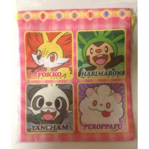 Pokemon Center 2013 Xerneas Yveltal Gogoat Inkay Chespin Fennekin Froakie Helioptile Medium Size Drawstring Dice Bag