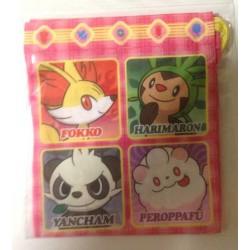 Pokemon Center 2013 Fennekin Chespin Pancham Swirlix Sylveon Froakie Flabebe Litleo Small Size Drawstring Dice Bag