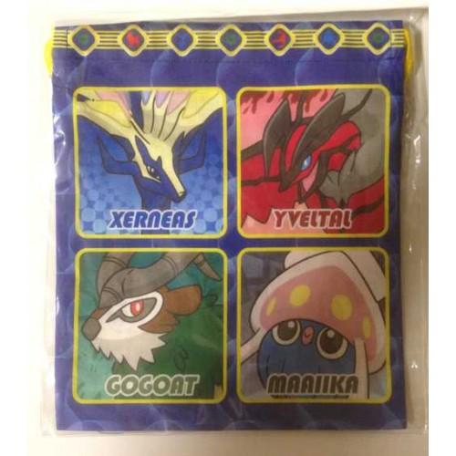 Pokemon Center 2013 Xerneas Yveltal Inkay Chespin Fennekin Froakie Helioptile Medium Size Drawstring Dice Bag