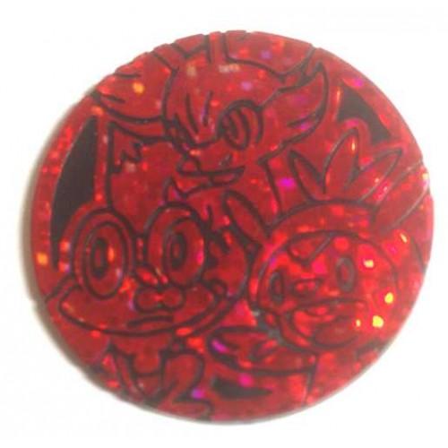 Pokemon 2013 Lawson Convenience Store Fennekin Froakie Chespin Coin (Sparkling Red Version)