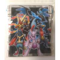 Pokemon Center 2014 Mega Charizard X Mewtwo X Blaziken Lucario Garchomp Small Size Drawstring Dice Bag