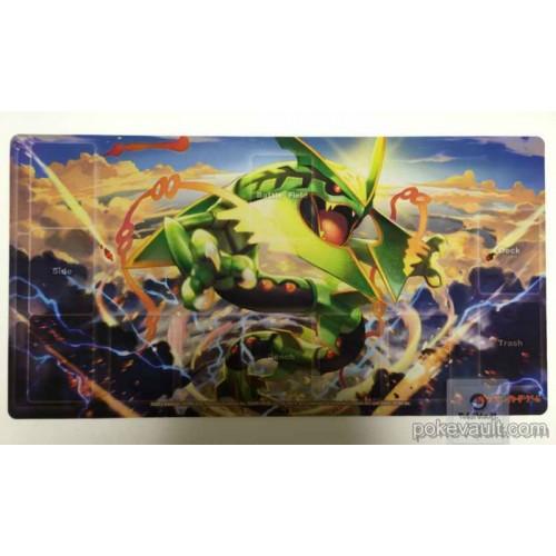 Pokemon Center 2015 Mega Rayquaza Official Premium Half Rubber Playmat