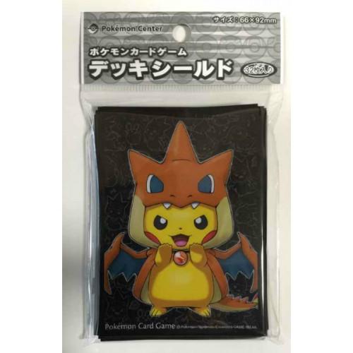 Pokemon Center Mega Tokyo 2015 Grand Opening Pikachu Pikazard Set Of 32 Deck Sleeves (Version #1 No Border)