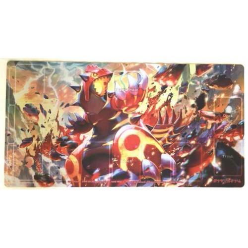 Pokemon Center 2014 Primal Groudon Official Premium Half Rubber Playmat