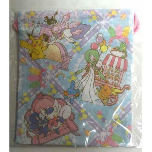 Pokemon Center 2014 Sylveon Diancie Meowstic Gardevoir Eevee & Friends Medium Size Drawstring Dice Bag