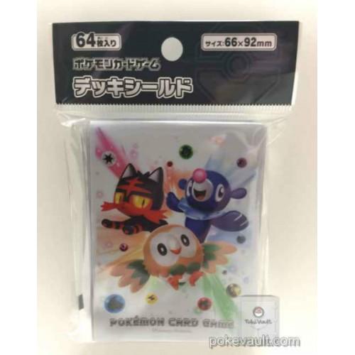 Pokemon Center 2016 Litten Popplio Rowlet Set Of 64 Deck Sleeves