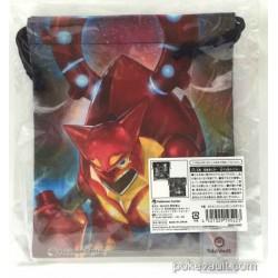 Pokemon Center 2016 Volcanion Shiny Mega Gardevoir Tyranitar Alakazam Swampert & Friends Medium Size Drawstring Dice Bag