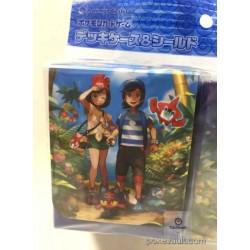 Pokemon Center 2016 Welcome To Alola! Campaign Rockruff Litten Popplio Rowlet & Friends Large Size Deck Box + Deck Sleeves Set