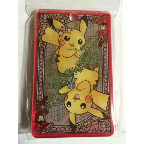 Pokemon Center 2014 My Dearest Campaign Pair Pikachu Acrylic Train Pass Case